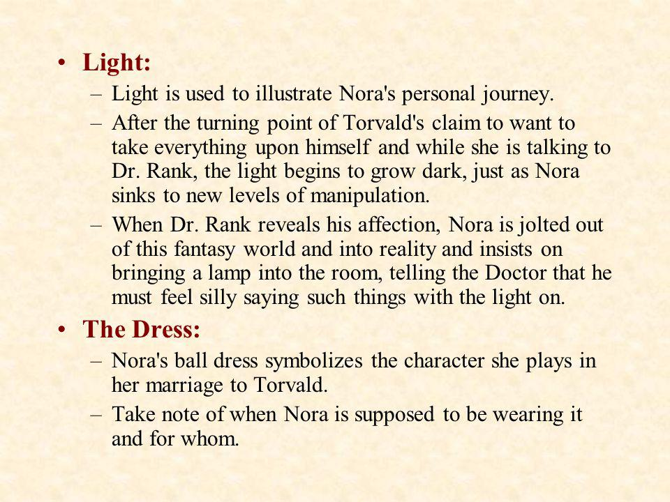 Light: The Dress: Light is used to illustrate Nora s personal journey.