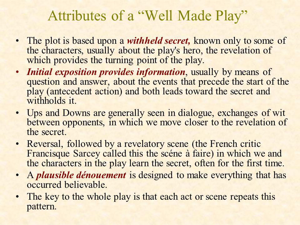 Attributes of a Well Made Play