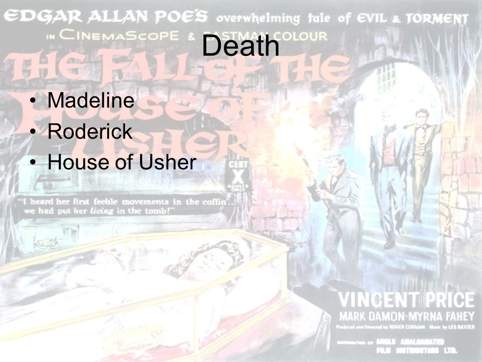 Death Madeline Roderick House of Usher