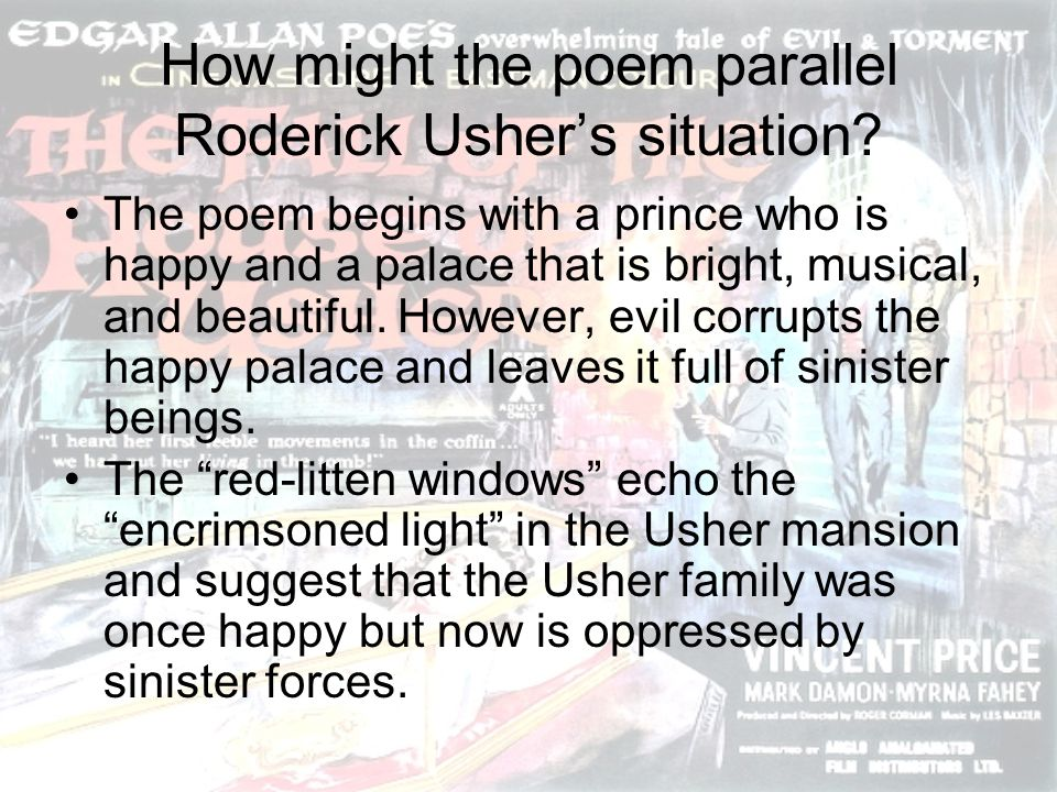 How might the poem parallel Roderick Usher's situation