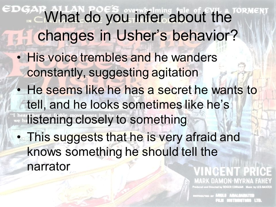What do you infer about the changes in Usher's behavior