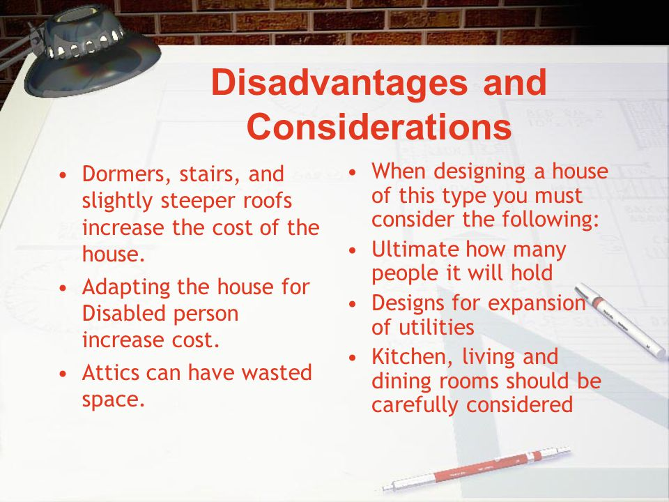 Disadvantages and Considerations