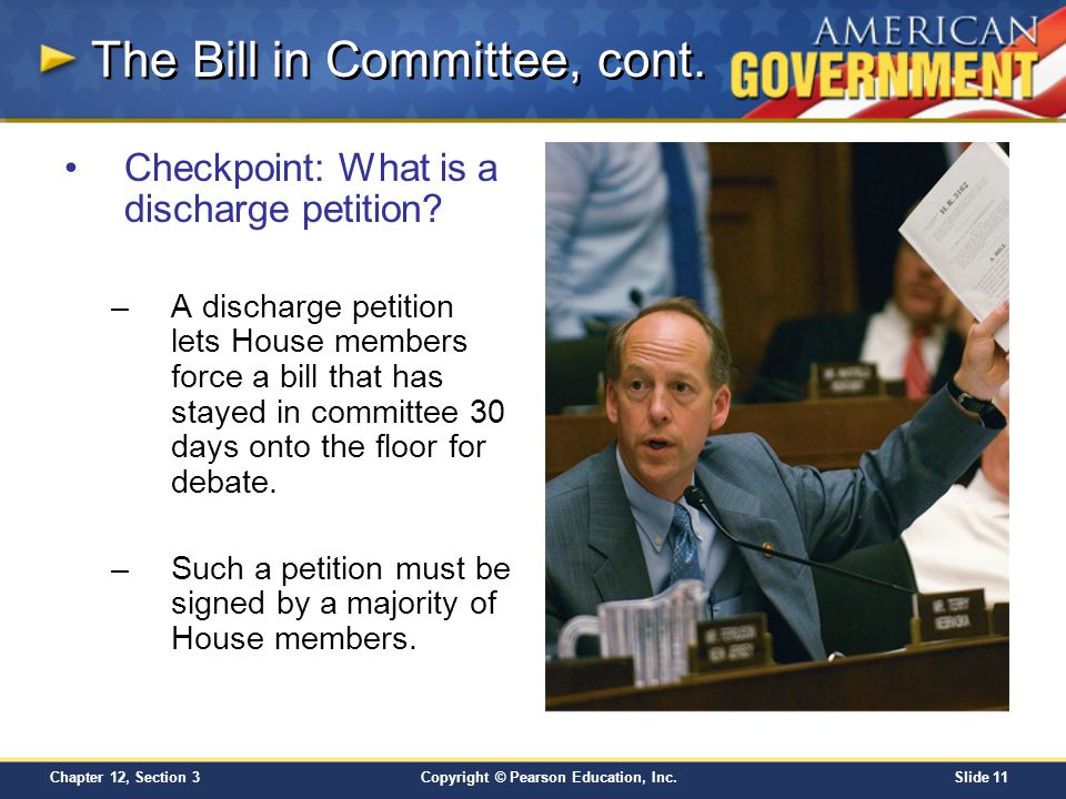 The Bill in Committee, cont.