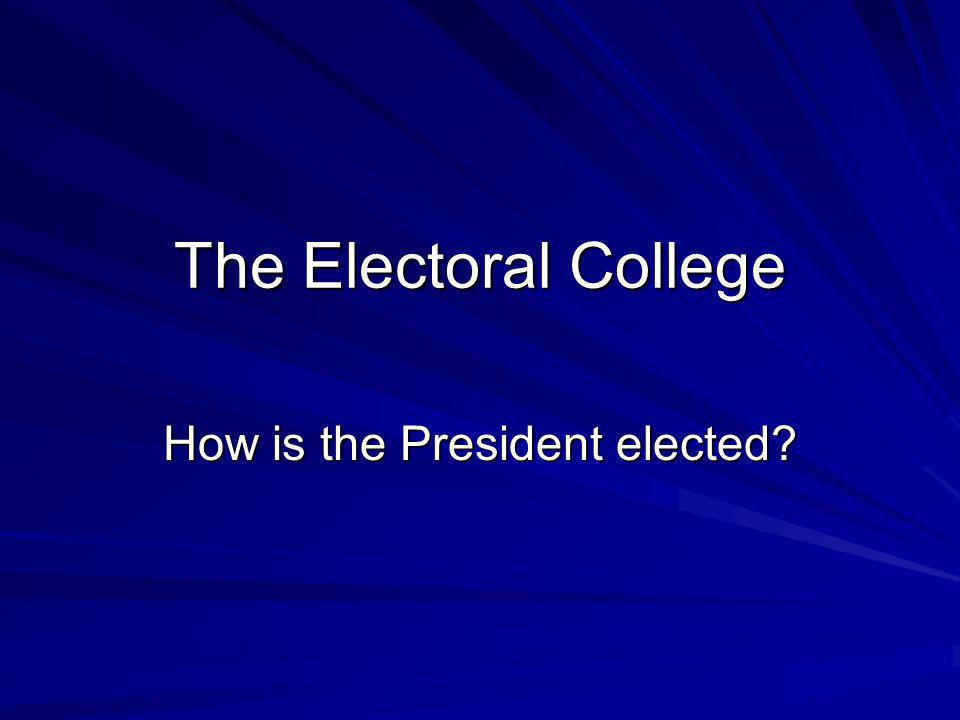 How is the President elected