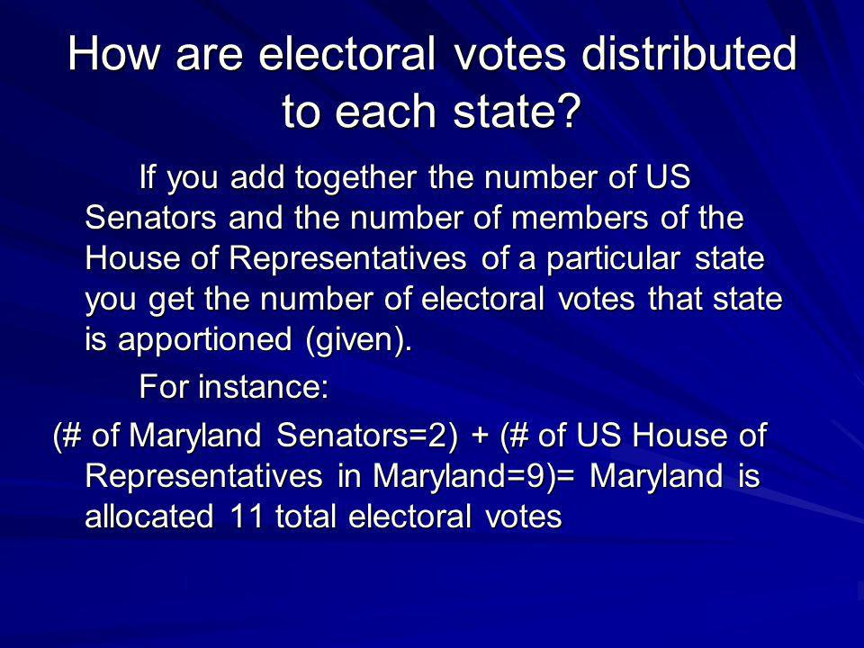 How are electoral votes distributed to each state