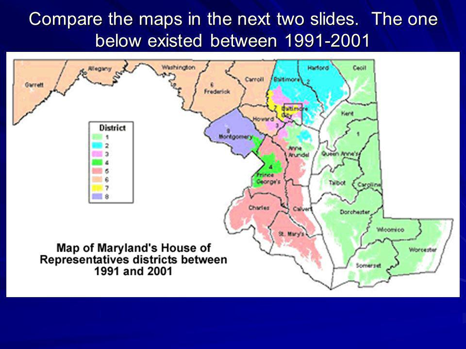 Compare the maps in the next two slides