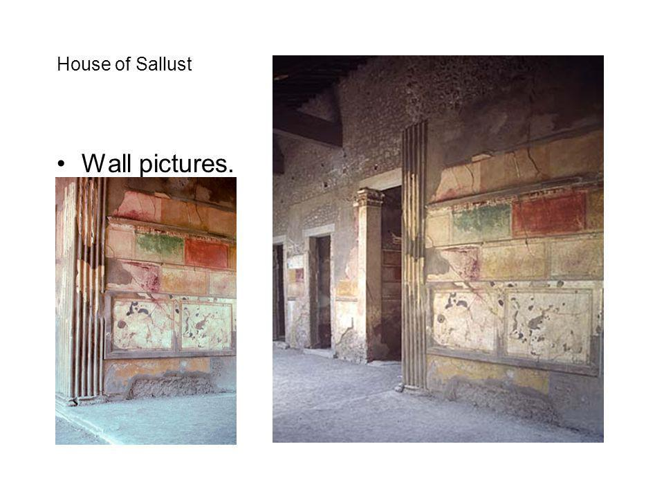 House of Sallust Wall pictures.