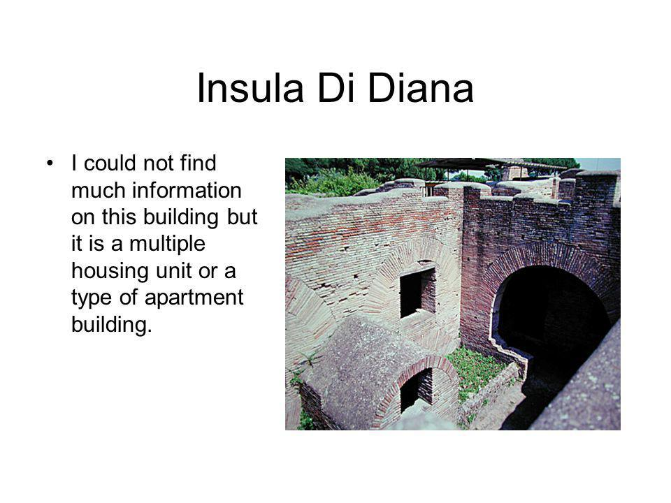 Insula Di Diana I could not find much information on this building but it is a multiple housing unit or a type of apartment building.