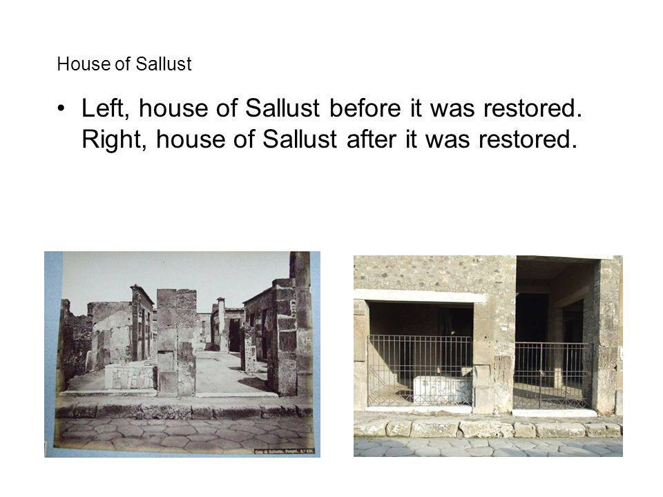 House of Sallust Left, house of Sallust before it was restored.