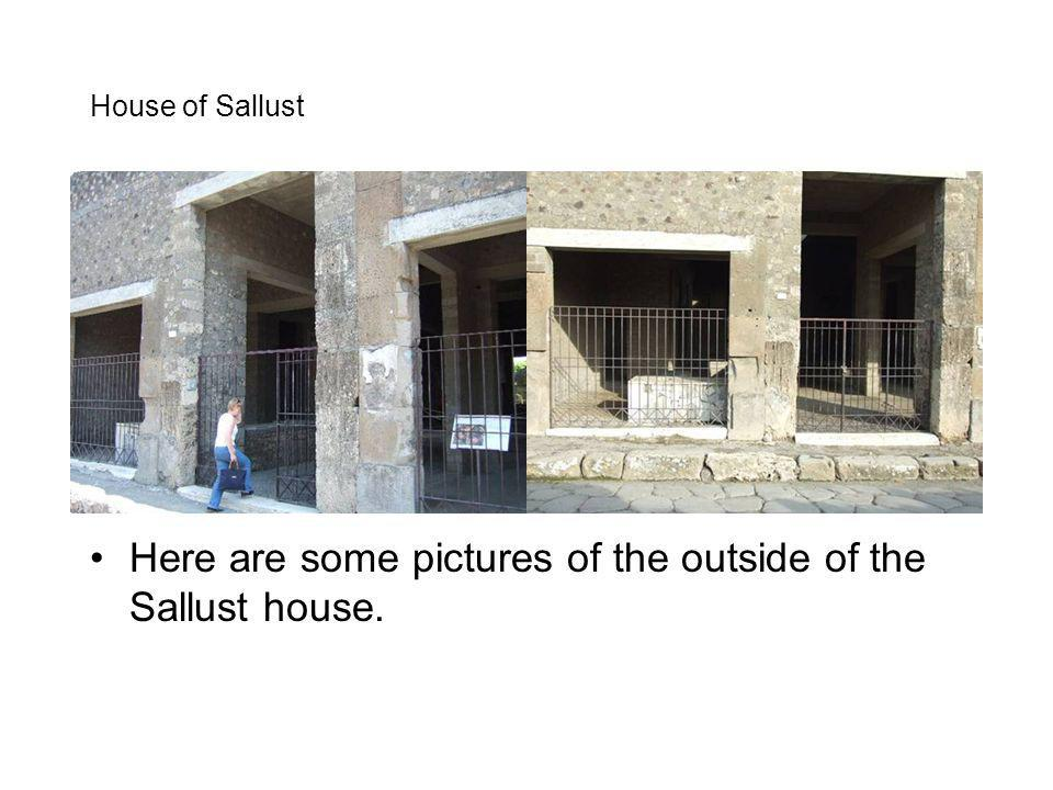 Here are some pictures of the outside of the Sallust house.