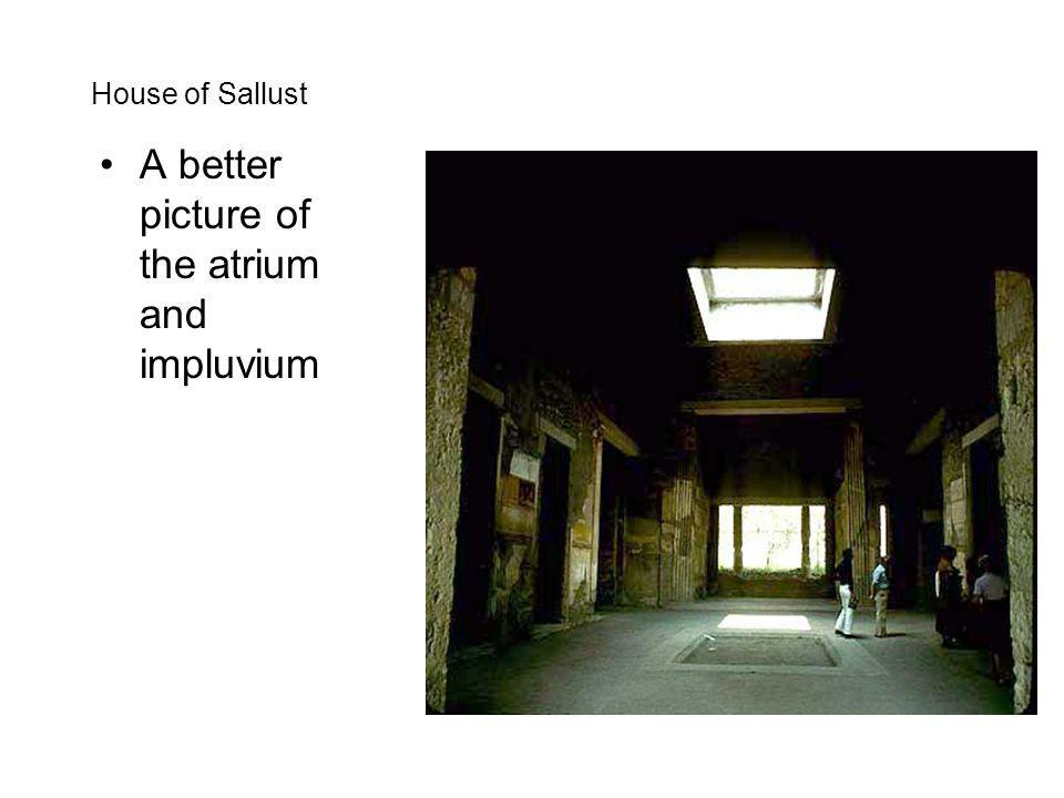 A better picture of the atrium and impluvium