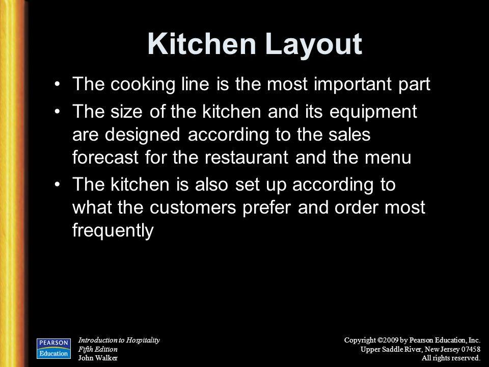 Kitchen Layout The cooking line is the most important part