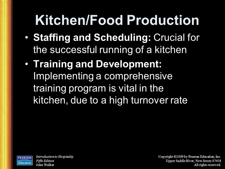 Kitchen/Food Production