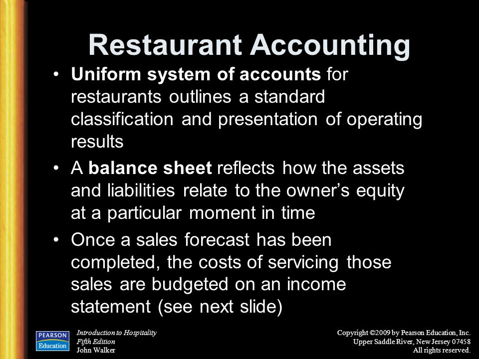 Restaurant Accounting