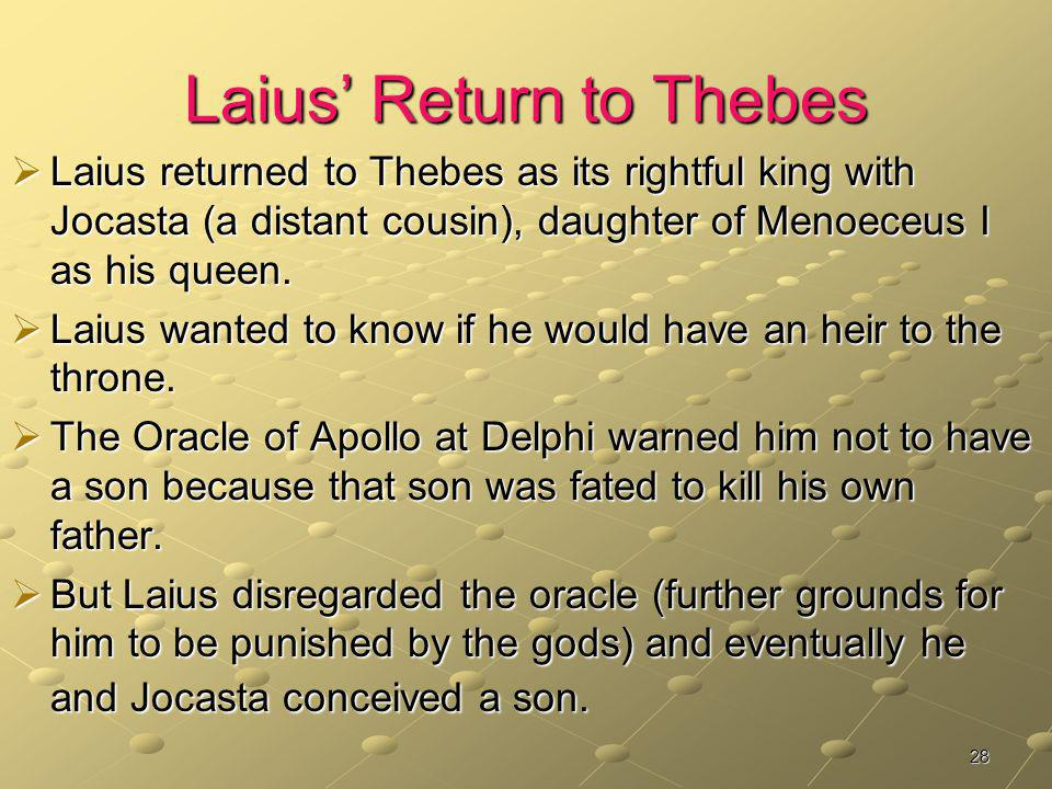 Laius' Return to Thebes