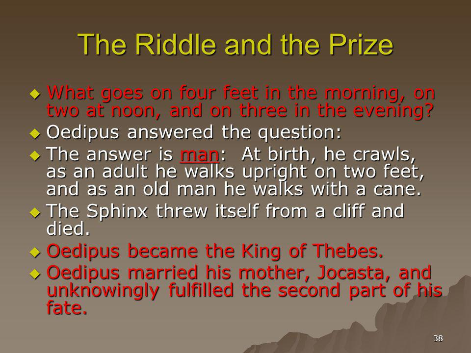 The Riddle and the Prize