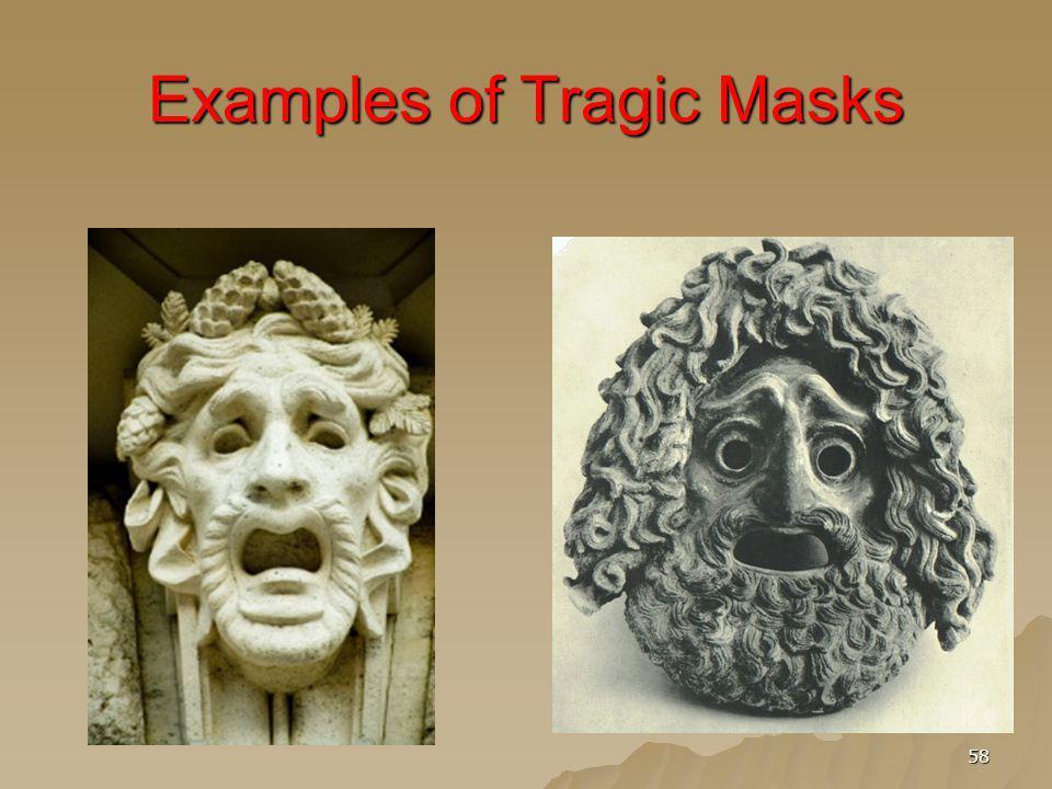 Examples of Tragic Masks