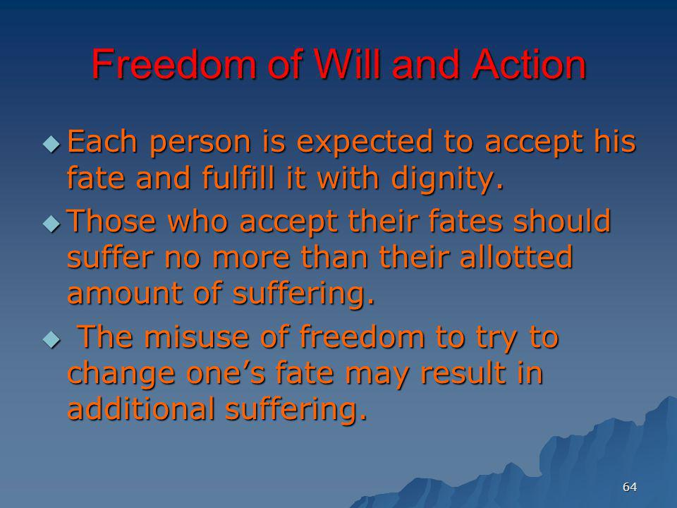 Freedom of Will and Action