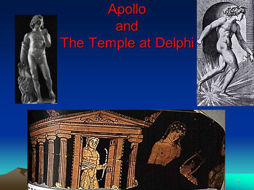 Apollo and The Temple at Delphi