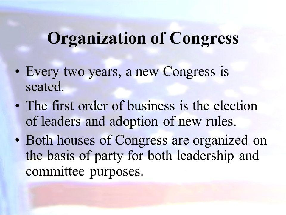 Organization of Congress