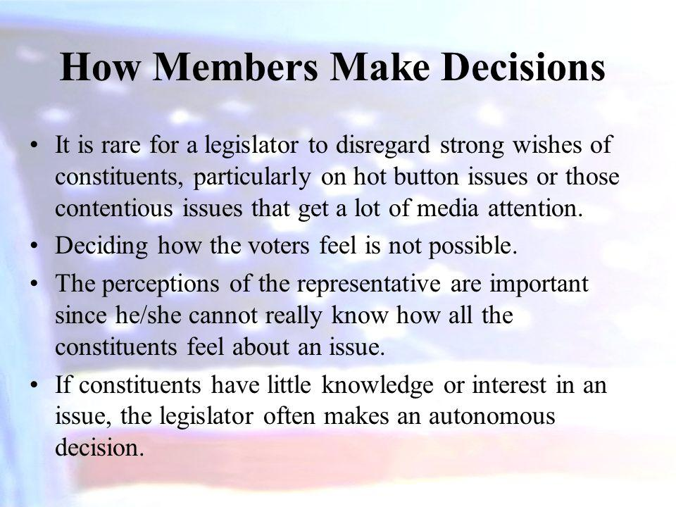 How Members Make Decisions