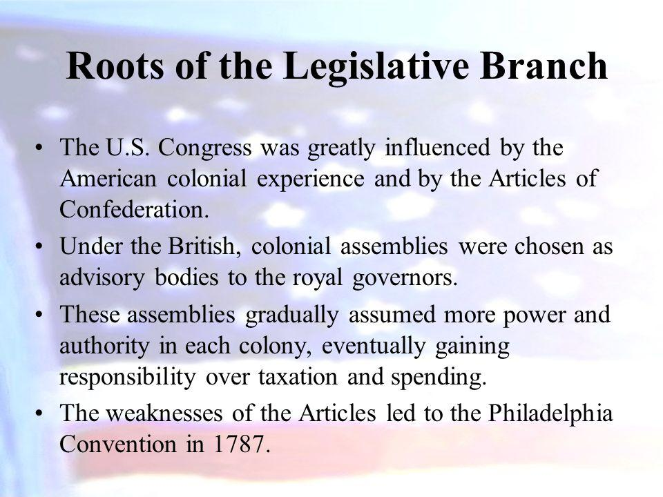 Roots of the Legislative Branch