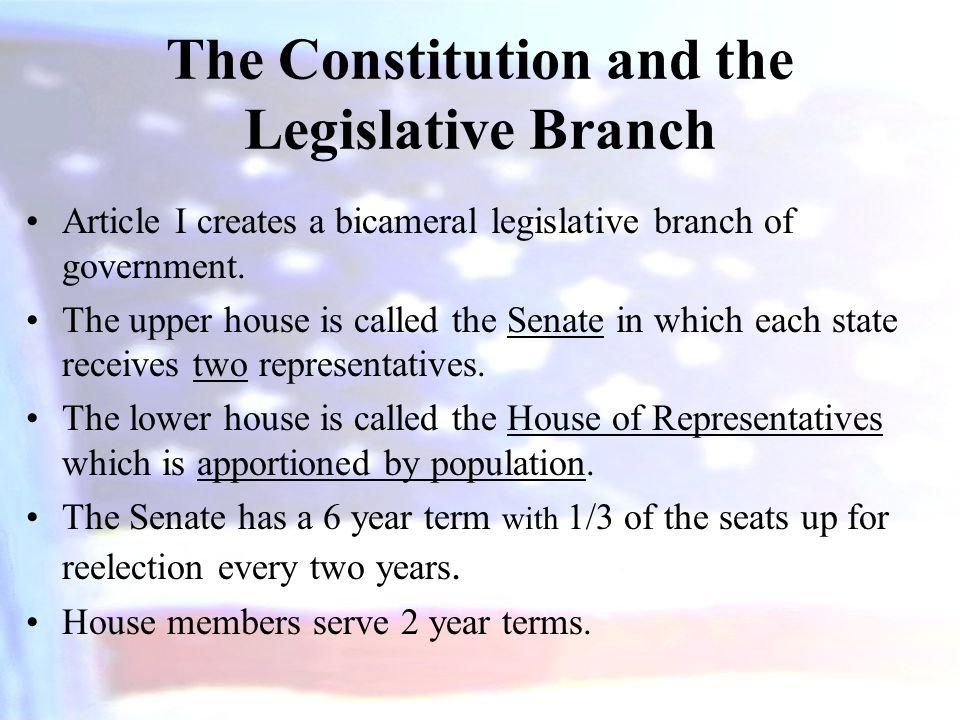 The Constitution and the Legislative Branch