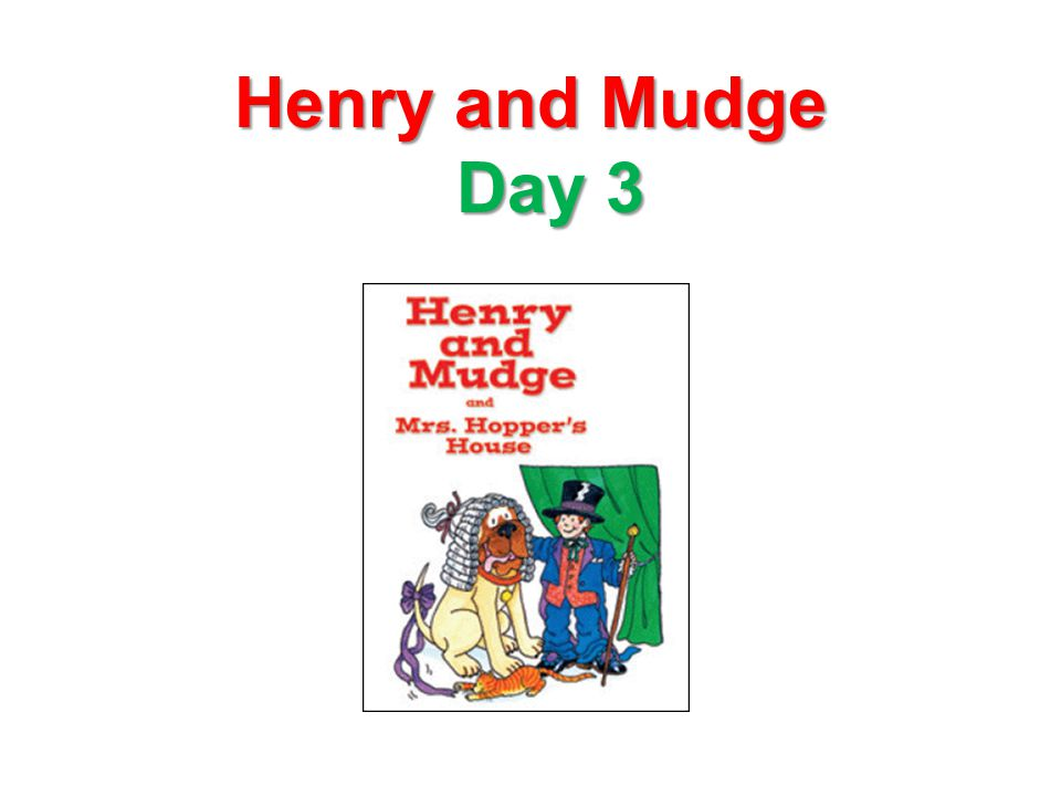 Henry and Mudge Day 3