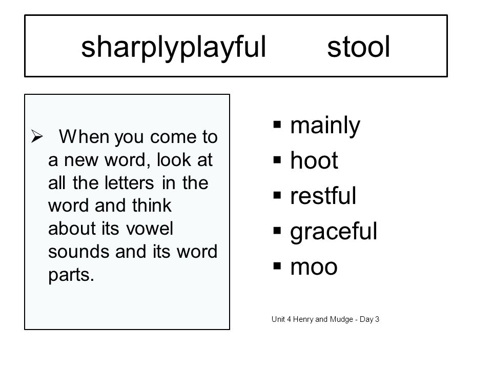 sharply playful stool mainly hoot restful graceful moo