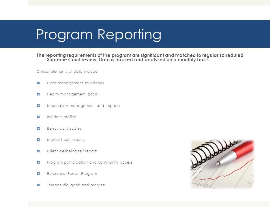 Program Reporting