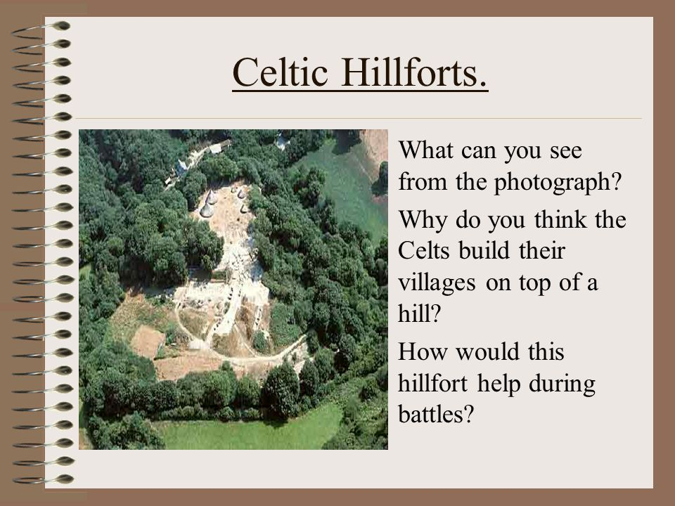 Celtic Hillforts. What can you see from the photograph