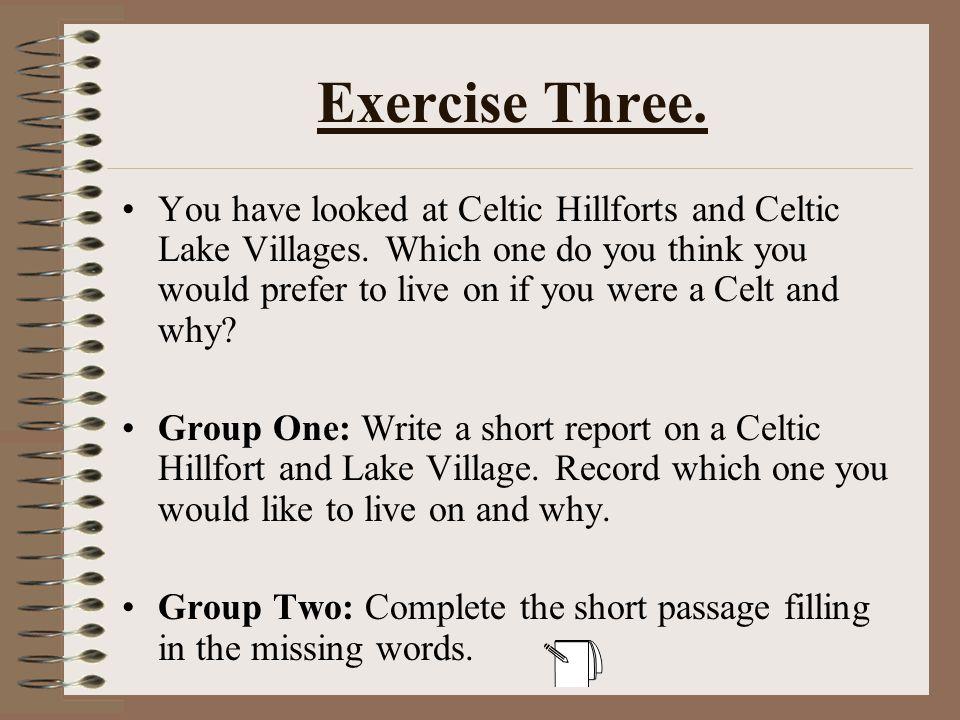 Exercise Three.