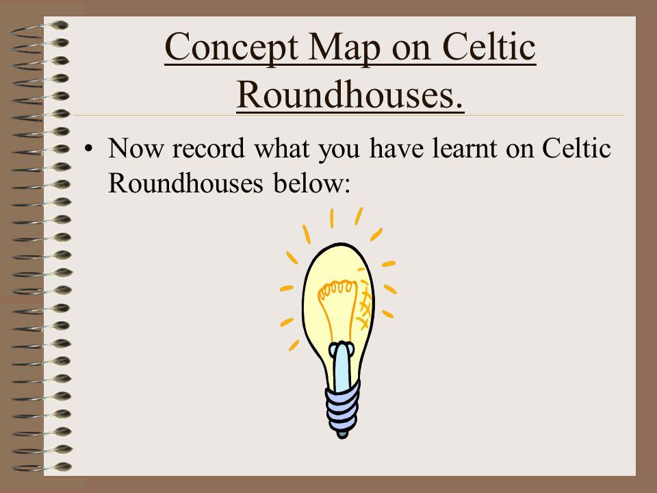 Concept Map on Celtic Roundhouses.