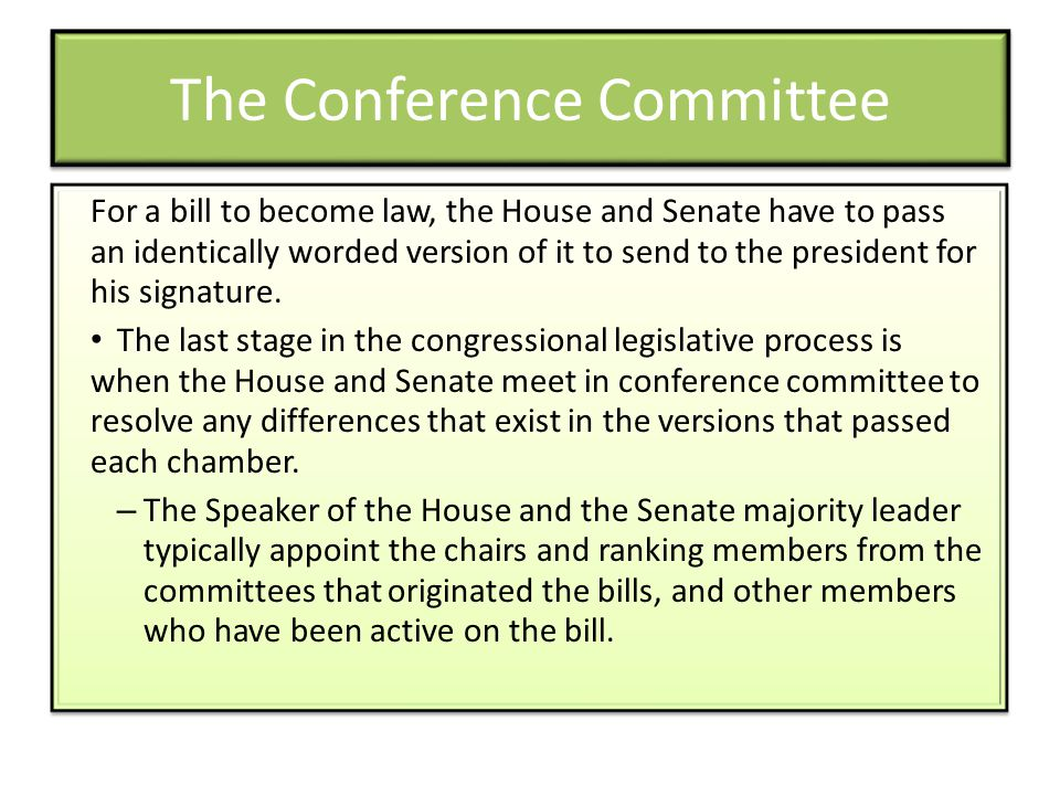 The Conference Committee