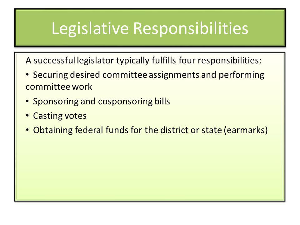 Legislative Responsibilities