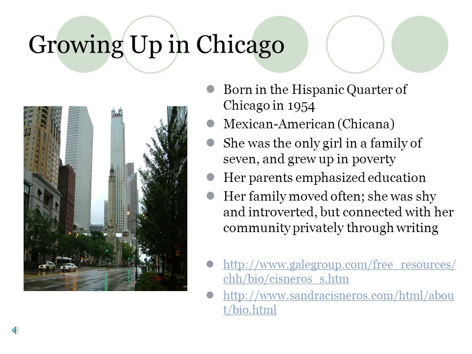 Growing Up in Chicago Born in the Hispanic Quarter of Chicago in 1954