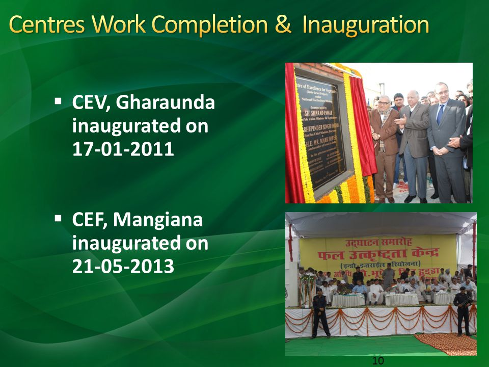 Centres Work Completion & Inauguration