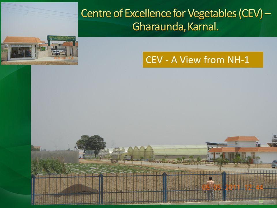 Centre of Excellence for Vegetables (CEV) – Gharaunda, Karnal.