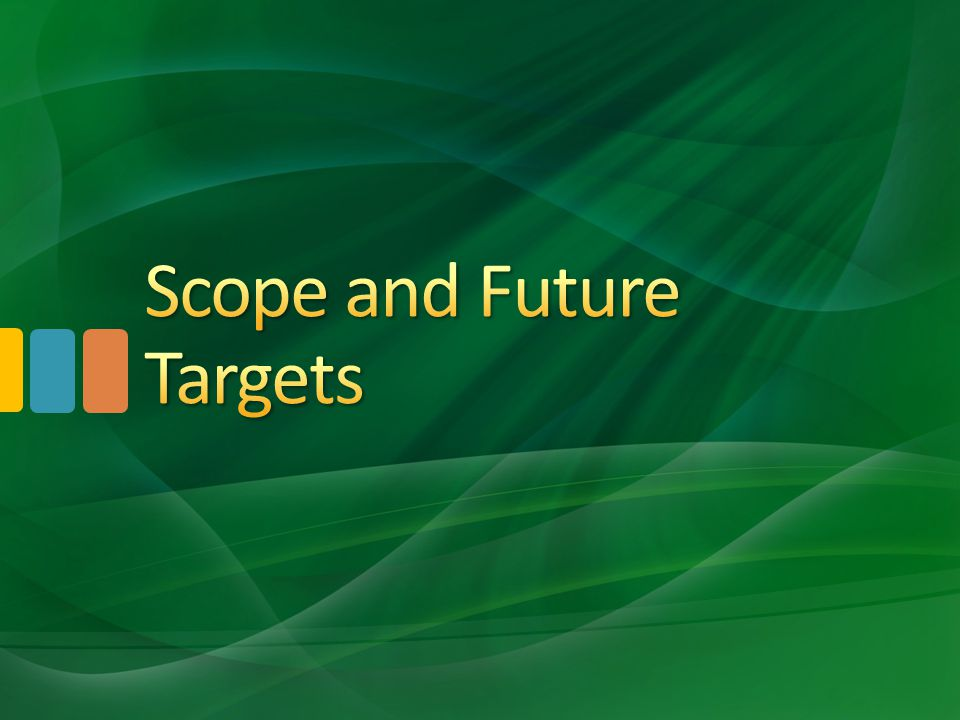 Scope and Future Targets