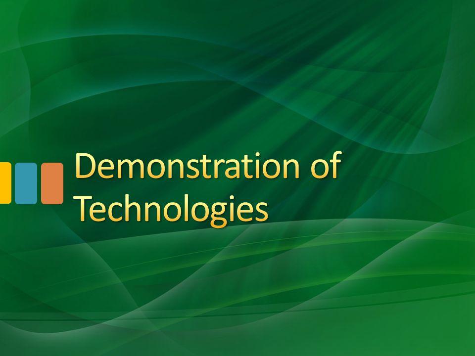 Demonstration of Technologies
