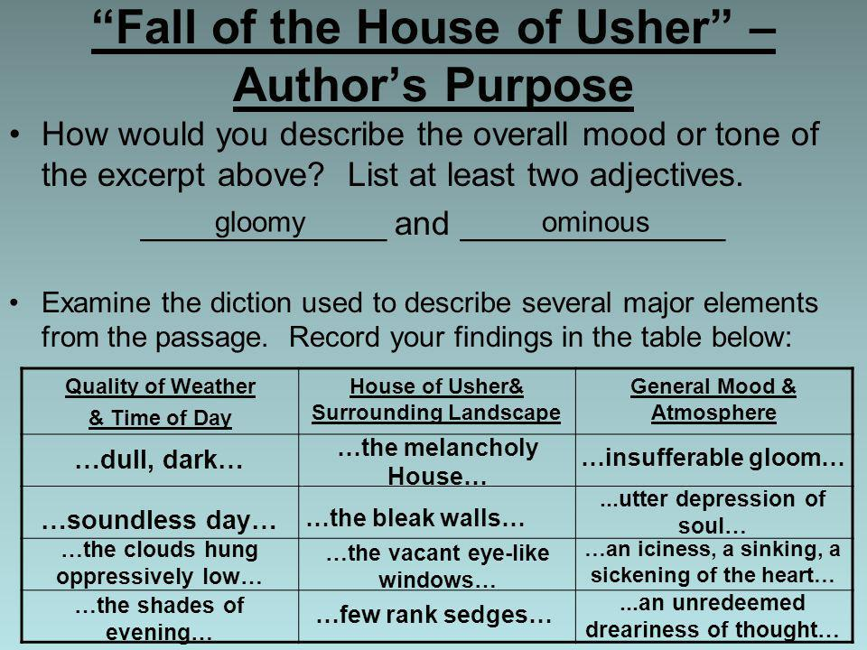 Fall of the House of Usher – Author's Purpose