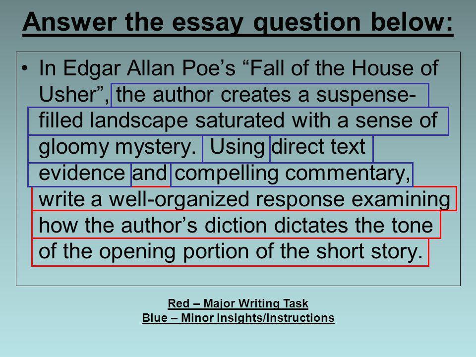Fall House Thesis Usher Essay Database
