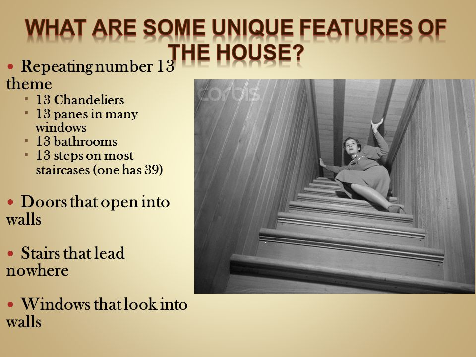 What are some unique features of the house