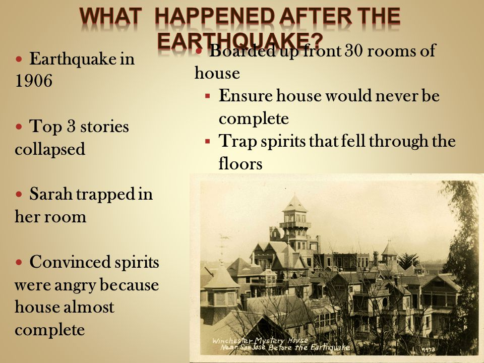 What happened after the earthquake