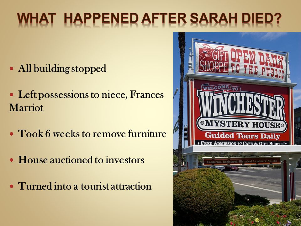 What happened after Sarah died