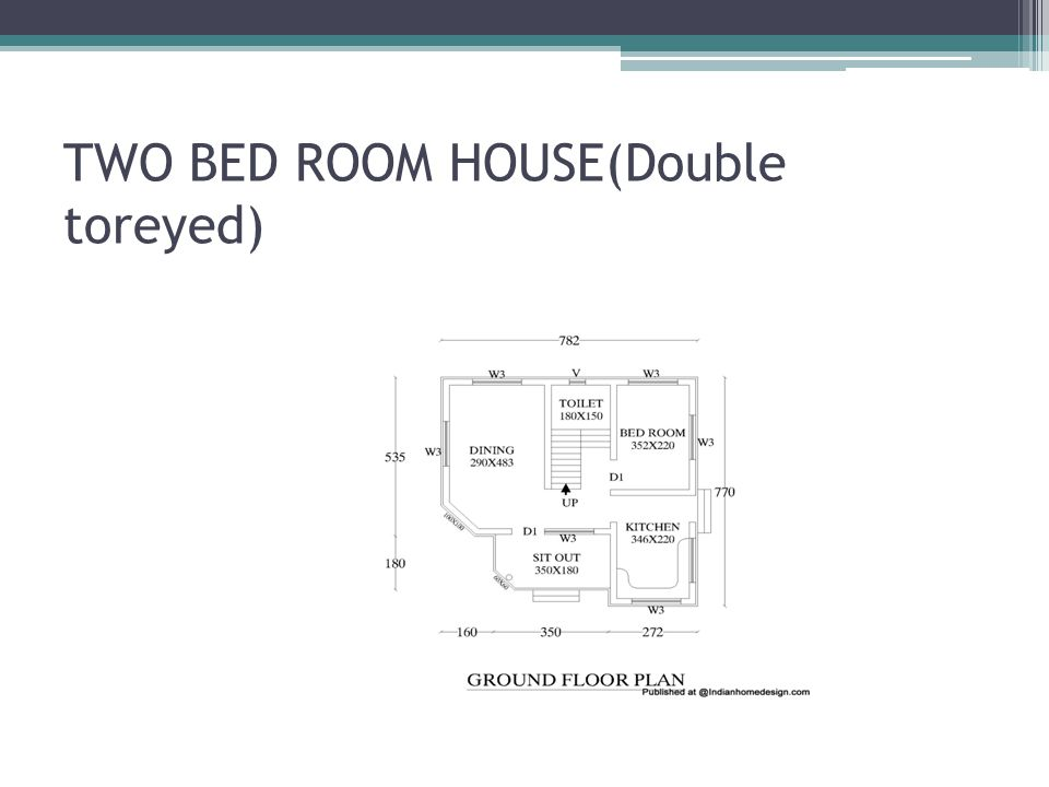 TWO BED ROOM HOUSE(Double toreyed)