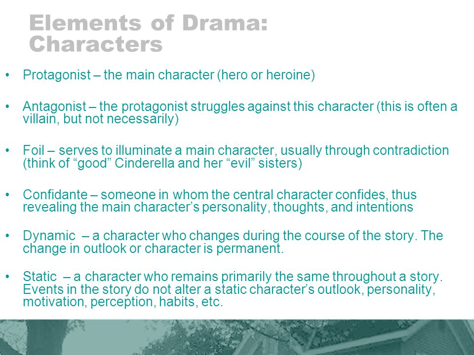 Elements of Drama: Characters