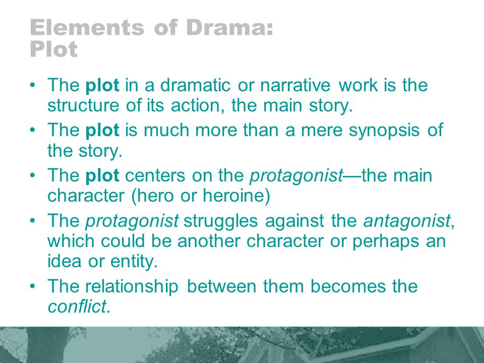 Elements of Drama: Plot