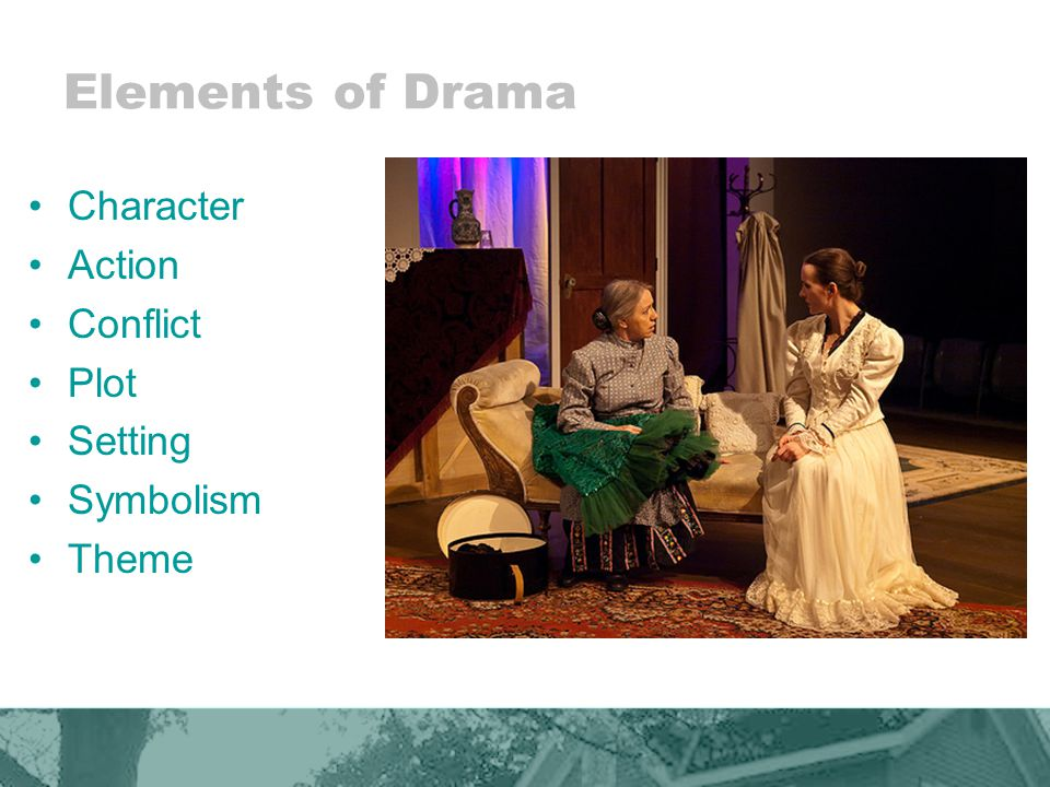 Elements of Drama Character Action Conflict Plot Setting Symbolism