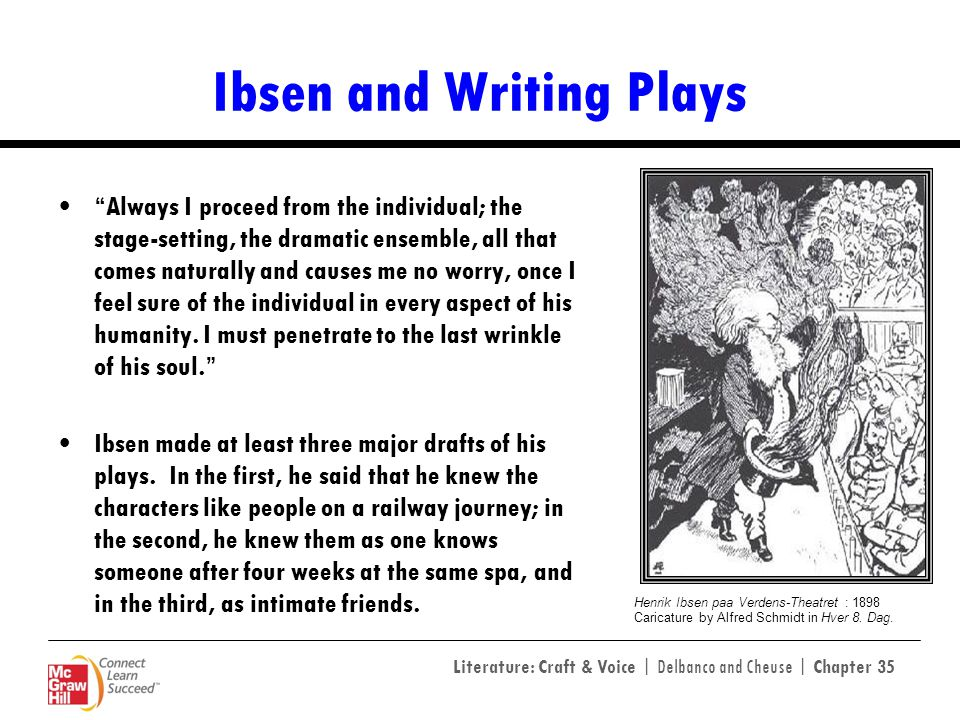 Ibsen and Writing Plays